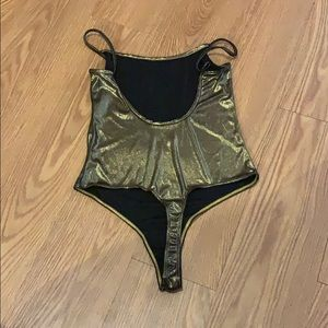 American Apparel Other - Gold thong body suit
